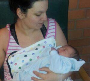 Nadja och hennes nyfödda son